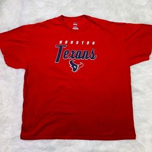 Majestic Red Houston Texans Football NFL Tee - XL